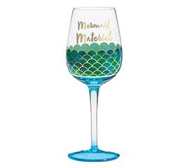 MAKIN' WAVES BLUE OMBRE WINE GLASS