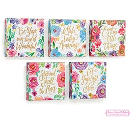 FLORAL INSPIRATIONS WOOD WALL BLOCK SET