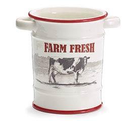 FARM FRESH CERAMIC UTENSIL HOLDER