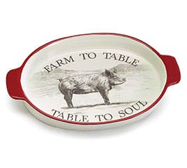 FARM FRESH FARM TO TABLE CERAMIC TRAY