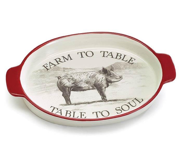 FARM FRESH FARM TO TABLE CERAMIC TRAY