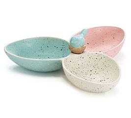 SAVANNAH SPRING CERAMIC RELISH TRAY