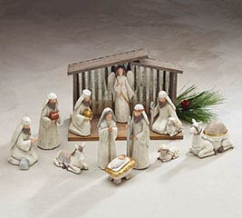 BLESSED BEGINNINGS RESIN NATIVITY