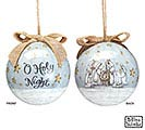 "4"" O HOLY NIGHT NATIVITY SCENE ORNAMENT"