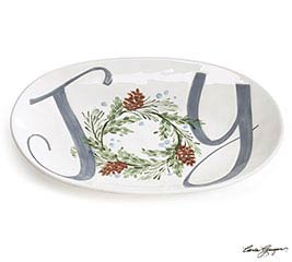 HANDPAINTED CERAMIC JOY PLATTER