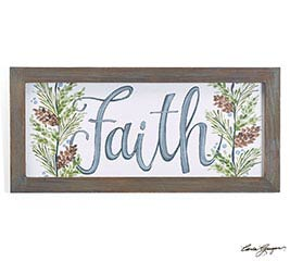 WALL HANGING FAITH SIGN WITH GREENERY