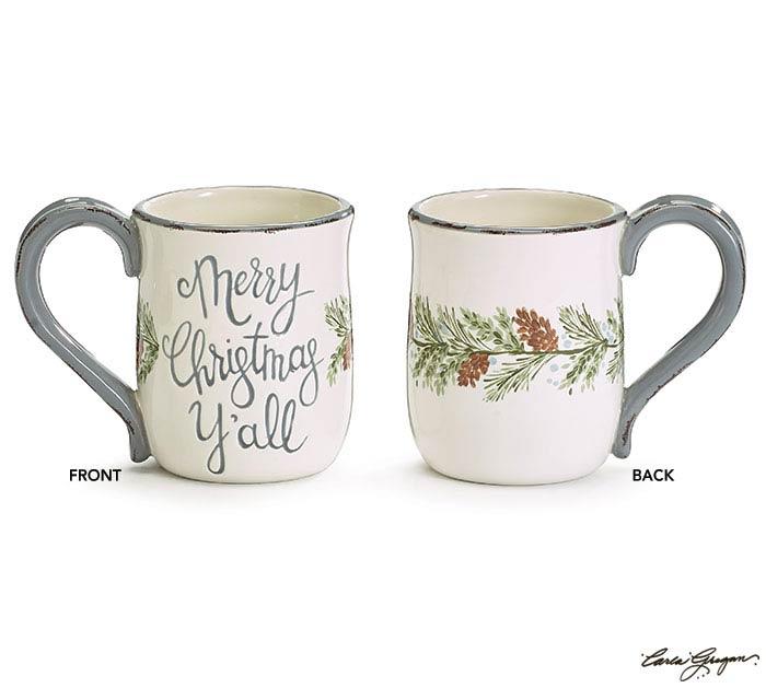 PINECONE VINE WRAP MERRY CHRISTMAS Y'ALL
