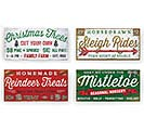 RUSTIC CHRISTMAS MESSAGE WALL HANGINGS