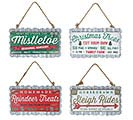 CHRISTMAS SEASON SIGN ORNAMENT ASTD