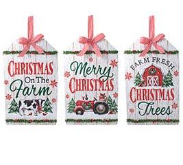 WALL HANGING CHRISTMAS FARM GIFT TAGS