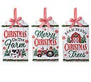 WALL HANGING CHRISTMAS FARM GIFT TAGS