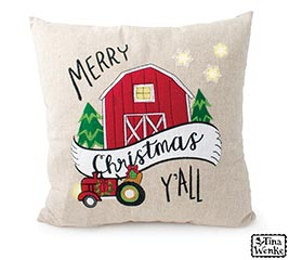 COUNTRYSIDE CHRISTMAS PILLOW LED LIGHTS