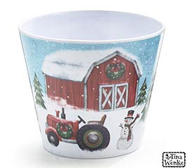 "4"" COUNTRYSIDE CHRISTMAS POT COVER"