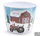 COUNTRYSIDE CHRISTMAS MELAMINE POT COVER