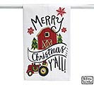 MCY TEA TOWEL WITH RED BARN AND TRACTOR