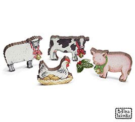 COUNTRY ANIMAL FIGURINE ASSORTMENT
