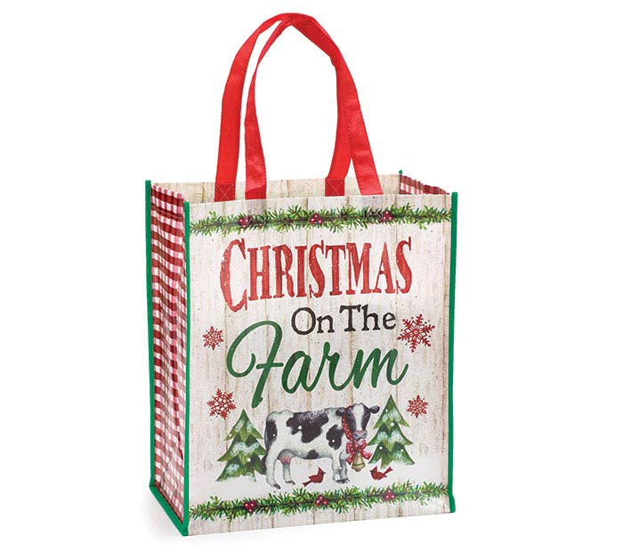 COUNTRYSIDE CHRISTMAS SCENE TOTE