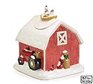 RED BARN SHAPE COOKIE JAR CMAS ACCENTS 1st Alternate Image