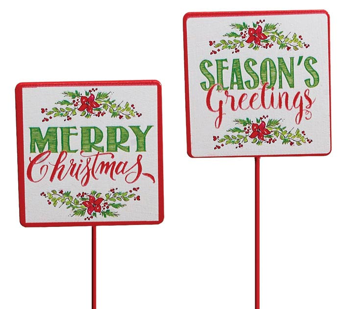 MERRY CHRISTMAS  SEASONS GREETINGS PICK