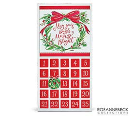 ADVENT CALENDAR WITH WREATH  MESSAGE