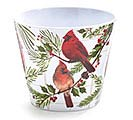 CARDINAL ON BRANCHES POT COVER MELAMINE