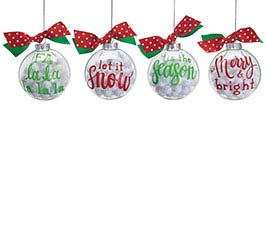 "ORNAMENT 4"" ASTD SEASONAL MESSAGES"