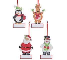 CHRISTMAS CHARACTER ORNAMENT ASTD