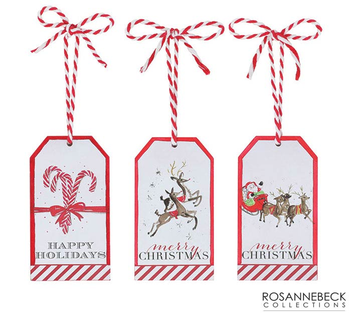 ORNAMENT GIFT TAGS WITH MESSAGES