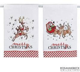 ASSORTED MERRY CHRISTMAS TEA TOWELS