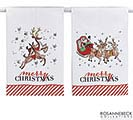 ASSORTED MERRY CHRISTMAS TEA TOWELS