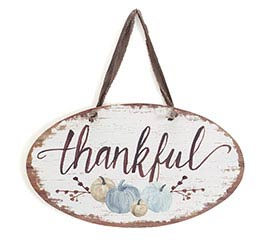 WALL HANGING THANKFUL WITH PUMPKINS