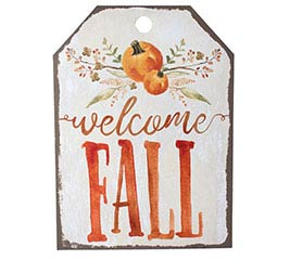 TAG SHAPE WELCOME FALL WALL HANGING