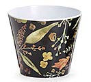 AUTUMN LEAVES BROWN MELAMINE POT COVER