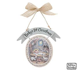 BABY'S 1ST CHRISTMAS ORNAMENT BABY JESUS