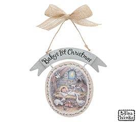 BABY'S 1ST CHRISTMAS ORNAMENT BABY JESUS