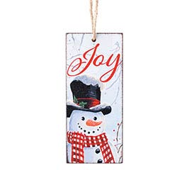 ORNAMENT SNOWMAN WITH JOY MESSAGE