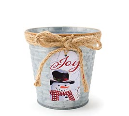 SNOWMAN TAG POT COVER
