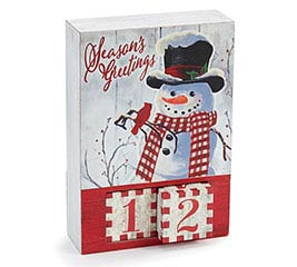 SEASONS GREETINGS SNOWMAN CALENDAR