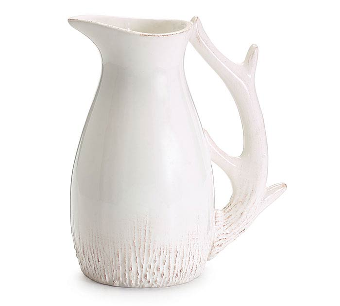 CERAMIC PITCHER WITH ANTLER HANDLE
