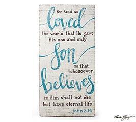 JOHN 3:16 VERSE WALL HANGING