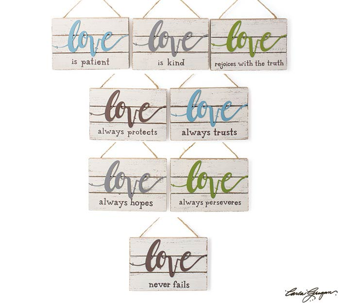 1 CORINTHIANS 13:4-8 LOVE ORNAMENTS