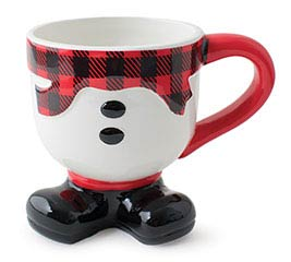 SNOWMAN FOOTED SHAPED MUG