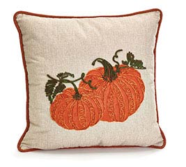 SQUARE PILLOW WITH PUMPKINS