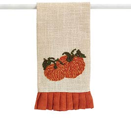 TEA TOWEL WITH PUMPKINS