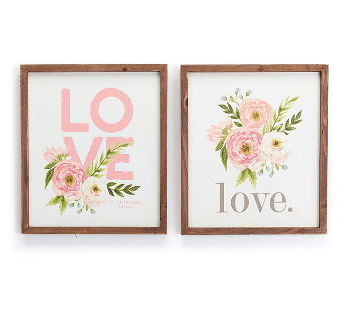 LOVE WALL HANGING ASTD WITH FLOWERS