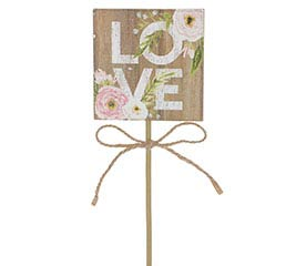 LOVE PICK WITH WATERCOLOR FLOWERS