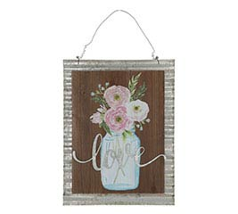 LOVE MASON JAR WALL HANGING