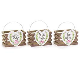 VALENTINE NATURALLY YOURS MESSAGE CRATE