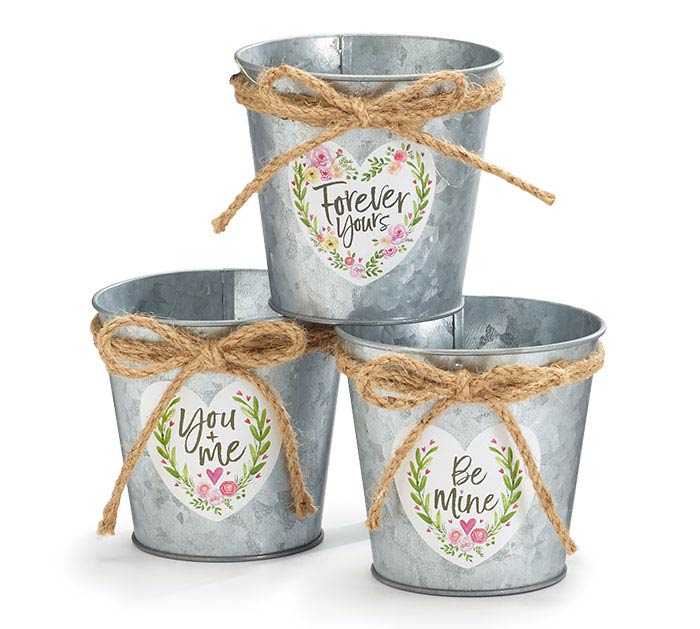 """4"""" VALENTINE HEART MESSAGE POT COVERS"""