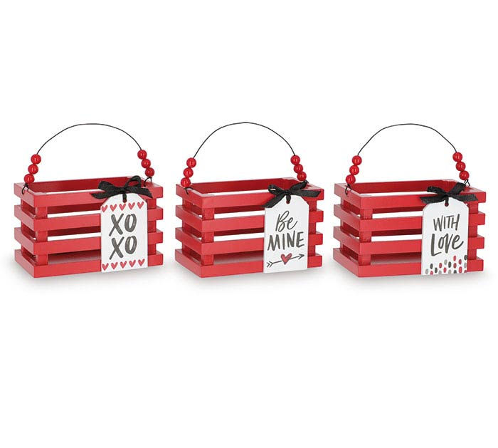 VALENTINE TAG CRATES WITH MESSAGES